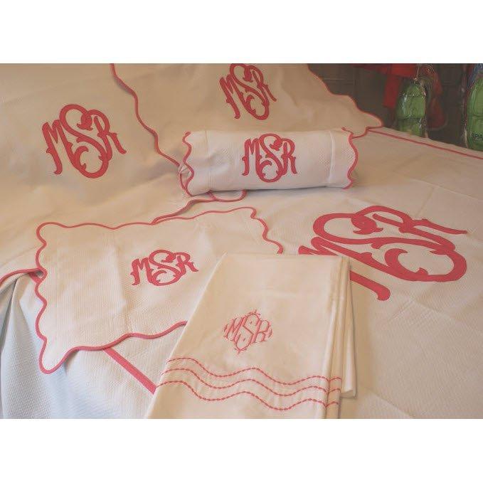 Monogrammed Matouk La Scallop Bedding Collection