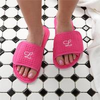 Monogrammed Waffle Weave Spa Slippers