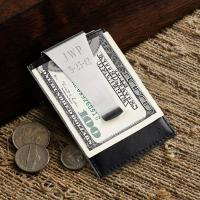 Leather Money Clip/Credit Card Holder